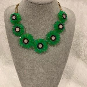 J. Crew Jewelry - J Crew floral crystal necklace